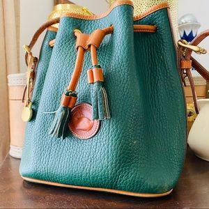 DOONEY BOURKE AWL green bucket bag purse Vtg